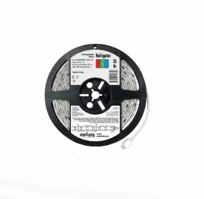 СД Лента Navigator 71 834 NLS-5050RGBM30-5-IP65-12VБегущая волна<br>Светодиодная лента NLS-«Бегущая волна» – универсальный источник <br>света, позволяющий  создавать уникальные динамические световые решения <br>при интерьерном и наружном применении.         Особенности ленты  <br><br>Новый вид светодиодной ленты, который позволяет создавать эффект  бегущей световой волны  <br>Интегральные микросхемы позволяют создавать большое разнообразие  различных динамических сцен  <br>Лента<br> легко крепится к различным поверхностям, а благодаря гибкости  и <br>отсутствию нагрева во время работы ей можно декорировать  разнообразные <br>конструкции и предметы  <br>Диапазон рабочих температур окружающей среды от -25 до +60 ?С;<br>Ленту можно резать на участки необходимой длины  <br><br><br>  Применение<br><br>Интерьерное освещение  <br>Подсветка ниш подвесных потолков  <br>Закарнизная подсветка  <br>Освещение рабочих поверхностей  <br>Подсветка контуров ступеней,  арок, подоконников, дорожек  <br>Мебельная подсветка  <br>Рекламная подсветка  <br>Изготовление световых коробов  <br>Архитектурная подсветка  <br>Световой дизайн фасадов  <br>Оформление витрин  <br>Новогоднее оформление  <br>Автомобильный тюнинг<br><br>Цветовая t, К: RGB - многоцветный<br>Тип лампы: LED - светодиодная<br>MAX мощность ламп, Вт: 5