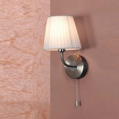 Citilux Кремовый CL913311 Светильник настенный браклассические бра<br><br><br>S освещ. до, м2: 2<br>Тип лампы: накаливания / энергосбережения / LED-светодиодная<br>Тип цоколя: E14<br>Цвет арматуры: серебристый<br>Количество ламп: 1<br>Ширина, мм: 160<br>Размеры: Высота 28см, Ширина16см, Глубина 18см, с Выключателем<br>Расстояние от стены, мм: 180<br>Высота, мм: 280<br>MAX мощность ламп, Вт: 40