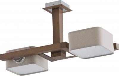 Alfa KROS 20052 потолочный светильниклюстры поворотные<br><br><br>Установка на натяжной потолок: Да<br>S освещ. до, м2: 4<br>Крепление: Потолочное<br>Тип цоколя: E14<br>Цвет арматуры: серебристый хром, Венге<br>Количество ламп: 2<br>Ширина, мм: 285<br>Размеры: размер коробки 400x400x200см.<br>Длина, мм: 500<br>Высота, мм: 270<br>MAX мощность ламп, Вт: 40