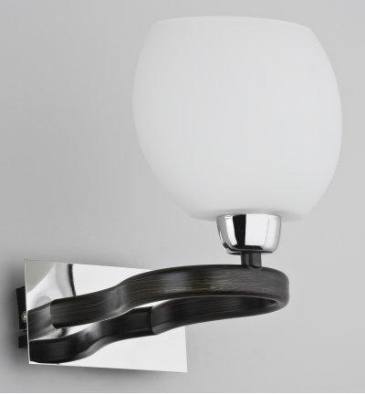 Alfa MAJORKA 19900 настенный светильниксовременные бра модерн<br><br><br>Крепление: Настенное<br>Тип лампы: Накаливания / энергосбережения / светодиодная<br>Тип цоколя: E14<br>Цвет арматуры: Венге, Хром<br>Количество ламп: 1<br>Размеры: размер коробки 220x165x160см.<br>Расстояние от стены, мм: 205<br>Высота, мм: 140<br>MAX мощность ламп, Вт: 40