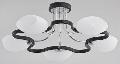 Alfa MAJORKA 19905 потолочный светильниксовременные потолочные люстры модерн<br><br><br>Установка на натяжной потолок: Да<br>S освещ. до, м2: 10<br>Крепление: Потолочное<br>Тип лампы: Накаливания / энергосбережения / светодиодная<br>Тип цоколя: E14<br>Цвет арматуры: Венге, Хром<br>Количество ламп: 5<br>Диаметр, мм мм: 500<br>Размеры: размер коробки 220x165x160см.<br>Высота, мм: 250<br>MAX мощность ламп, Вт: 40