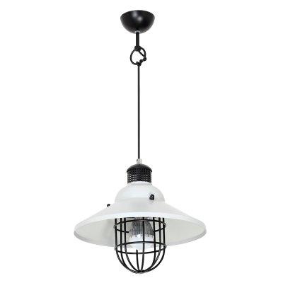 Luminex SINGLE  7291 потолочный светильникодиночные подвесные светильники<br><br><br>S освещ. до, м2: 3<br>Крепление: Потолочное<br>Тип цоколя: E27<br>Цвет арматуры: Черный<br>Количество ламп: 1<br>Диаметр, мм мм: 300<br>Высота, мм: 1000<br>MAX мощность ламп, Вт: 60