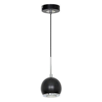 Luminex GERD 7297 потолочный светильникодиночные подвесные светильники<br><br><br>S освещ. до, м2: 3<br>Крепление: Потолочное<br>Тип цоколя: GU10<br>Цвет арматуры: серебристый хром, Чёрный<br>Количество ламп: 1<br>Диаметр, мм мм: 100<br>Высота, мм: 800<br>MAX мощность ламп, Вт: 60
