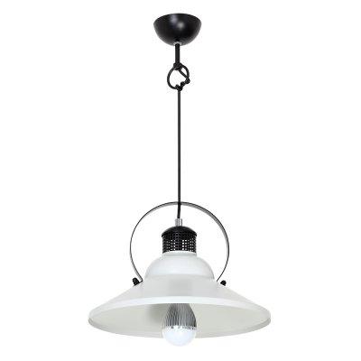Luminex SINGLE  9090 потолочный светильникодиночные подвесные светильники<br><br><br>S освещ. до, м2: 3<br>Крепление: Потолочное<br>Тип цоколя: E27<br>Цвет арматуры: Черный<br>Количество ламп: 1<br>Диаметр, мм мм: 300<br>Высота, мм: 1000<br>MAX мощность ламп, Вт: 60