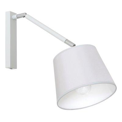 Luminex ASTA 7371 настенный светильникСовременные<br><br><br>Крепление: Настенное<br>Тип цоколя: E27<br>Цвет арматуры: серебристый хром, Белый<br>Количество ламп: 1<br>Диаметр, мм мм: 400<br>Высота, мм: 600<br>MAX мощность ламп, Вт: 60