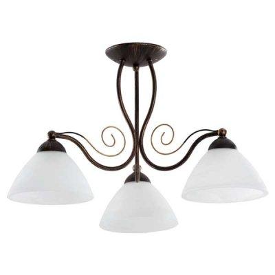 Alfa INCA 15693 потолочный светильникПотолочные<br><br><br>Установка на натяжной потолок: Да<br>S освещ. до, м2: 9<br>Крепление: Потолочное<br>Тип цоколя: E27<br>Цвет арматуры: Бронзовый, Патина<br>Количество ламп: 3<br>Диаметр, мм мм: 600<br>Высота, мм: 340<br>MAX мощность ламп, Вт: 60