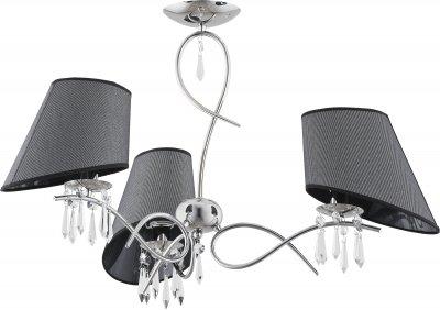 Alfa BARONET 11423 потолочный светильниксовременные потолочные люстры модерн<br><br><br>Установка на натяжной потолок: Да<br>S освещ. до, м2: 6<br>Крепление: Потолочное<br>Тип цоколя: E14<br>Цвет арматуры: серебристый хром<br>Количество ламп: 3<br>Диаметр, мм мм: 650<br>Размеры: размер коробки 460x460x460см.<br>Высота, мм: 455<br>MAX мощность ламп, Вт: 40