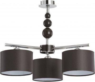 Alfa PAMELA 18103 потолочный светильниксовременные потолочные люстры модерн<br><br><br>Установка на натяжной потолок: Да<br>S освещ. до, м2: 6<br>Крепление: Потолочное<br>Тип цоколя: E14<br>Цвет арматуры: Венге, Хром<br>Количество ламп: 3<br>Диаметр, мм мм: 640<br>Размеры: размер коробки 450x450x330см.<br>Высота, мм: 650<br>MAX мощность ламп, Вт: 40