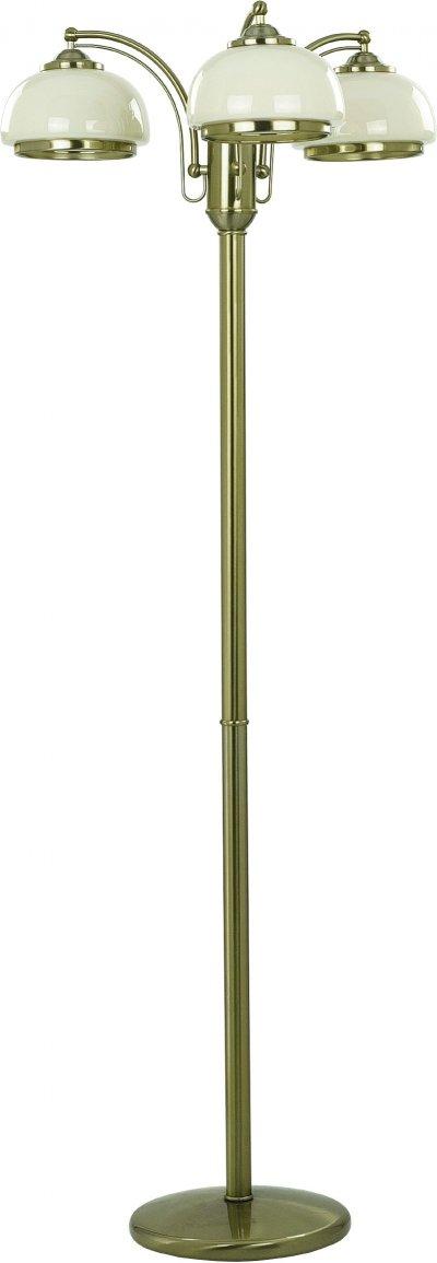 Alfa LORD 10449 напольный светильникКлассические<br><br><br>Крепление: Напольное<br>Тип цоколя: E27<br>Цвет арматуры: античный золотой<br>Количество ламп: 3<br>Диаметр, мм мм: 640<br>Размеры: размер коробки 38x38x165см.<br>Высота, мм: 1500<br>MAX мощность ламп, Вт: 60