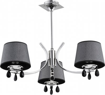 Alfa TRIX 21713 потолочный светильниксовременные потолочные люстры модерн<br><br><br>Установка на натяжной потолок: Да<br>S освещ. до, м2: 6<br>Крепление: Потолочное<br>Тип цоколя: E14<br>Цвет арматуры: серебристый хром<br>Количество ламп: 3<br>Диаметр, мм мм: 680<br>Размеры: размер коробки 48x48x33см.<br>Высота, мм: 550<br>MAX мощность ламп, Вт: 40