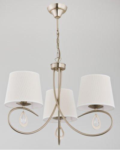 Alfa IZYDA 22053 потолочный светильниксовременные подвесные люстры модерн<br><br><br>Установка на натяжной потолок: Да<br>S освещ. до, м2: 6<br>Крепление: Потолочное<br>Тип цоколя: E14<br>Цвет арматуры: Матовый золотой<br>Количество ламп: 3<br>Диаметр, мм мм: 590<br>Размеры: размер коробки 45x45x40см.<br>Высота, мм: 730<br>MAX мощность ламп, Вт: 40