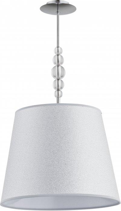 Alfa EMMA 21601 потолочный светильниксовременные потолочные люстры модерн<br><br><br>Установка на натяжной потолок: Да<br>S освещ. до, м2: 3<br>Крепление: Потолочное<br>Тип цоколя: E27<br>Цвет арматуры: серебристый хром<br>Количество ламп: 1<br>Диаметр, мм мм: 390<br>Размеры: размер коробки 48x48x33см.<br>Высота, мм: 750<br>MAX мощность ламп, Вт: 60