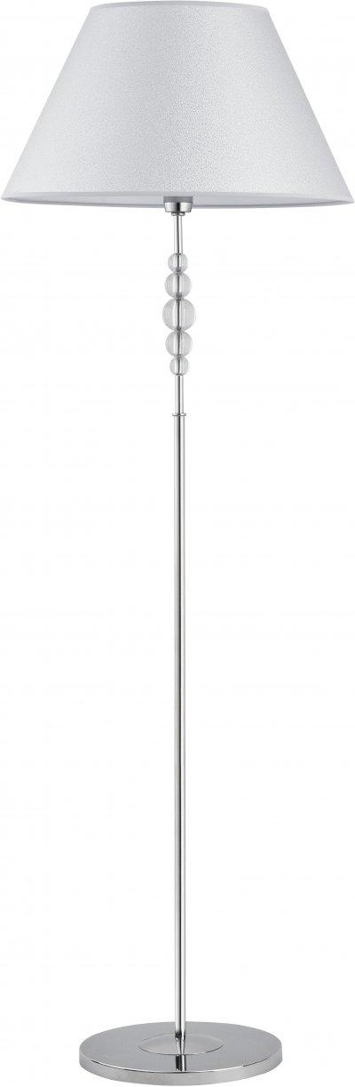 Alfa EMMA 21609 напольный светильникСовременные<br><br><br>Крепление: Напольное<br>Тип цоколя: E27<br>Цвет арматуры: серебристый хром<br>Количество ламп: 1<br>Диаметр, мм мм: 500<br>Высота, мм: 1520<br>MAX мощность ламп, Вт: 60