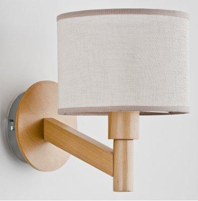Alfa KARO 22100 настенный светильниксовременные бра модерн<br><br><br>Крепление: Настенное<br>Тип цоколя: E14<br>Цвет арматуры: Светлое дерево<br>Количество ламп: 1<br>Ширина, мм: 175<br>Расстояние от стены, мм: 250<br>Высота, мм: 230<br>MAX мощность ламп, Вт: 40