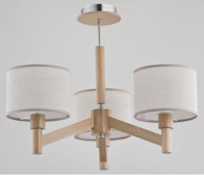 Alfa KARO 22103 потолочный светильникПотолочные<br><br><br>Установка на натяжной потолок: Да<br>S освещ. до, м2: 6<br>Крепление: Потолочное<br>Тип цоколя: E14<br>Цвет арматуры: деревянный светлый<br>Количество ламп: 3<br>Диаметр, мм мм: 540<br>Высота, мм: 460<br>MAX мощность ламп, Вт: 40