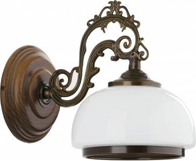 Alfa PARMA 16940 настенный светильникклассические бра<br><br><br>Крепление: Настенное<br>Тип лампы: Накаливания / энергосбережения / светодиодная<br>Тип цоколя: E27<br>Цвет арматуры: Венге, Коричневый<br>Количество ламп: 1<br>Размеры: размер коробки 27x27x22см.<br>Расстояние от стены, мм: 240<br>Высота, мм: 300<br>MAX мощность ламп, Вт: 60