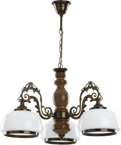 Alfa PARMA 16943 потолочный светильниклюстры подвесные классические<br><br><br>Установка на натяжной потолок: Да<br>S освещ. до, м2: 9<br>Крепление: Потолочное<br>Тип цоколя: E27<br>Цвет арматуры: Венге, Коричневый<br>Количество ламп: 3<br>Диаметр, мм мм: 570<br>Высота, мм: 640<br>MAX мощность ламп, Вт: 60