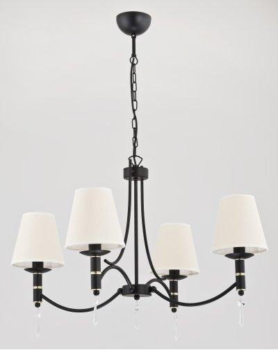 Alfa ABIL BLACK GOLD 23004 потолочный светильникПодвесные<br><br><br>Установка на натяжной потолок: Да<br>S освещ. до, м2: 8<br>Крепление: Потолочное<br>Тип цоколя: E14<br>Цвет арматуры: Черный, Хром<br>Количество ламп: 4<br>MAX мощность ламп, Вт: 40