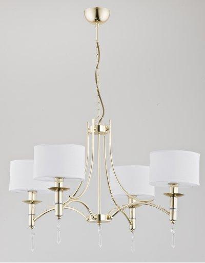 Alfa BILA GOLD 23454 потолочный светильникПодвесные<br><br><br>Установка на натяжной потолок: Да<br>S освещ. до, м2: 8<br>Крепление: Потолочное<br>Тип цоколя: E14<br>Цвет арматуры: золотой<br>Количество ламп: 4<br>MAX мощность ламп, Вт: 40