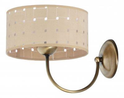 Jupiter OSLO 1233 P. OS K настенный светильниксовременные бра модерн<br><br><br>Крепление: Настенное<br>Тип цоколя: E27<br>Цвет арматуры: Патинированная латунь, Венге<br>Количество ламп: 1<br>Размеры: размер коробки 24x24x16см.<br>Расстояние от стены, мм: 220<br>Высота, мм: 230<br>MAX мощность ламп, Вт: 60