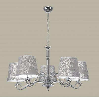 Jupiter VENUS 1289 VS 5 потолочный светильниклюстры подвесные классические<br><br><br>Установка на натяжной потолок: Да<br>S освещ. до, м2: 15<br>Крепление: Потолочное<br>Тип цоколя: E27<br>Цвет арматуры: серебристый хром<br>Количество ламп: 5<br>Диаметр, мм мм: 840<br>Размеры: размер коробки 46x63x63см.<br>Высота, мм: 800<br>MAX мощность ламп, Вт: 60