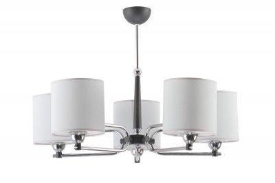 Jupiter TWINGO 1408 TW 5 G потолочный светильникПотолочные<br><br><br>Установка на натяжной потолок: Да<br>S освещ. до, м2: 15<br>Крепление: Потолочное<br>Тип цоколя: E27<br>Цвет арматуры: серебристый хром, Графит<br>Количество ламп: 5<br>Диаметр, мм мм: 720<br>Размеры: размер коробки 37x64x64см.<br>Высота, мм: 600<br>MAX мощность ламп, Вт: 60