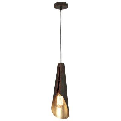 Luminex CALYX 9169 потолочный светильникПодвесные<br><br><br>Установка на натяжной потолок: Да<br>S освещ. до, м2: 3<br>Крепление: Потолочное<br>Тип цоколя: E27<br>Цвет арматуры: Медный, Золотой<br>Количество ламп: 1<br>Диаметр, мм мм: 120<br>Размеры: размер коробки 50x18x14см.<br>Высота, мм: 1100<br>MAX мощность ламп, Вт: 60