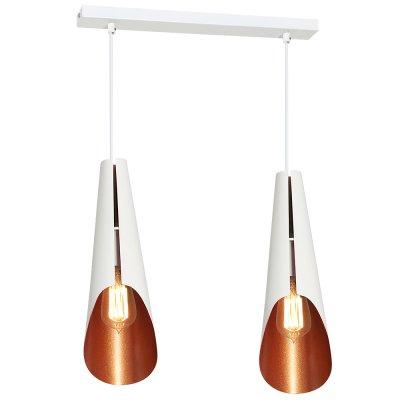 Luminex CALYX 9173 потолочный светильникДвойные<br><br><br>S освещ. до, м2: 6<br>Крепление: Потолочное<br>Тип цоколя: E27<br>Цвет арматуры: Белый<br>Количество ламп: 2<br>Ширина, мм: 120<br>Длина, мм: 300<br>Высота, мм: 1100<br>MAX мощность ламп, Вт: 60