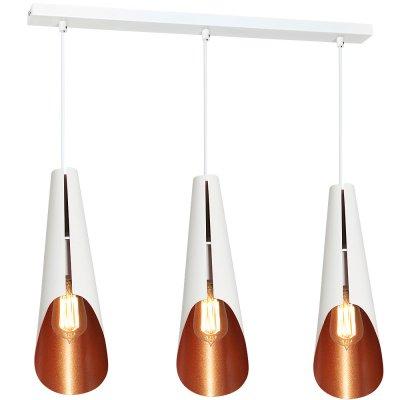 Luminex CALYX 9174 потолочный светильникТройные<br><br><br>S освещ. до, м2: 9<br>Крепление: Потолочное<br>Тип цоколя: E27<br>Цвет арматуры: Белый<br>Количество ламп: 3<br>Ширина, мм: 120<br>Длина, мм: 500<br>Высота, мм: 1100<br>MAX мощность ламп, Вт: 60