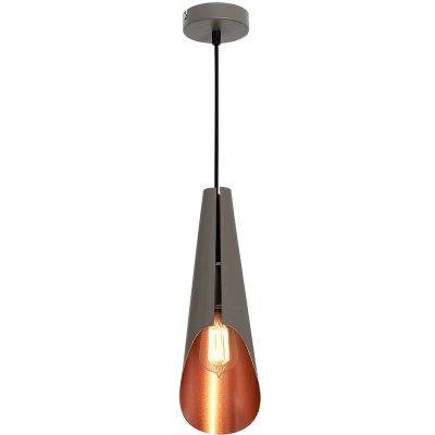 Luminex CALYX 9177 потолочный светильникподвесные люстры лофт<br><br><br>Установка на натяжной потолок: Да<br>S освещ. до, м2: 3<br>Крепление: Потолочное<br>Тип цоколя: E27<br>Цвет арматуры: Серый<br>Количество ламп: 1<br>Диаметр, мм мм: 120<br>Размеры: размер коробки 50x18x14см.<br>Высота, мм: 1100<br>MAX мощность ламп, Вт: 60