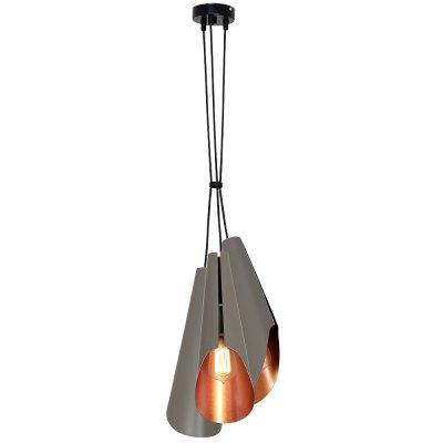 Luminex CALYX 9180 потолочный светильникподвесные люстры лофт<br><br><br>Установка на натяжной потолок: Да<br>S освещ. до, м2: 9<br>Крепление: Потолочное<br>Тип цоколя: E27<br>Цвет арматуры: Черный<br>Количество ламп: 3<br>Диаметр, мм мм: 250<br>Размеры: размер коробки 45x22x22см.<br>Высота, мм: 1100<br>MAX мощность ламп, Вт: 60