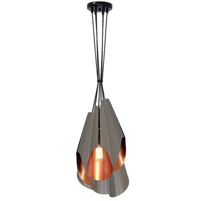 Luminex CALYX 9181 потолочный светильникподвесные люстры лофт<br><br><br>Установка на натяжной потолок: Да<br>S освещ. до, м2: 15<br>Крепление: Потолочное<br>Тип цоколя: E27<br>Цвет арматуры: Черный<br>Количество ламп: 5<br>Диаметр, мм мм: 650<br>Размеры: размер коробки 60x22x22см.<br>Высота, мм: 1100<br>MAX мощность ламп, Вт: 60