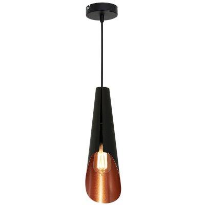Luminex CALYX 9182 потолочный светильникОдиночные<br><br><br>S освещ. до, м2: 3<br>Крепление: Потолочное<br>Тип цоколя: E27<br>Цвет арматуры: Черный<br>Количество ламп: 1<br>Диаметр, мм мм: 120<br>Размеры: размер коробки 50x18x14см.<br>Высота, мм: 1100<br>MAX мощность ламп, Вт: 60