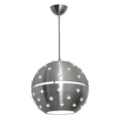 Luminex ORBIT 7560 потолочный светильниксовременные подвесные люстры модерн<br><br><br>Установка на натяжной потолок: Да<br>S освещ. до, м2: 3<br>Крепление: Потолочное<br>Тип цоколя: E27<br>Цвет арматуры: серебристый хром<br>Количество ламп: 1<br>Диаметр, мм мм: 280<br>Размеры: размер коробки 29x33x33см.<br>Высота, мм: 950<br>MAX мощность ламп, Вт: 60