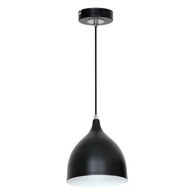 Luminex NOAK 7266 потолочный светильникОдиночные<br><br><br>S освещ. до, м2: 3<br>Крепление: Потолочное<br>Тип цоколя: E27<br>Цвет арматуры: Черный<br>Количество ламп: 1<br>Диаметр, мм мм: 170<br>Размеры: размер коробки 20x28x22см.<br>Высота, мм: 1000<br>MAX мощность ламп, Вт: 60