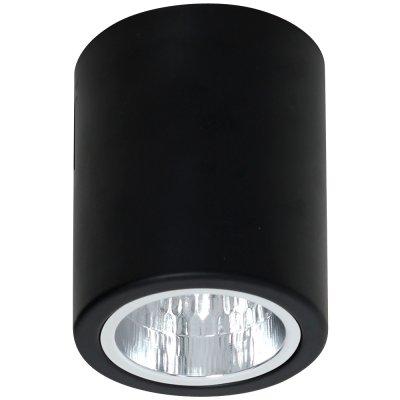 Luminex DOWNLIGHT ROUND 7237 потолочный светильникНакладные точечные<br><br><br>S освещ. до, м2: 3<br>Крепление: Потолочное<br>Тип цоколя: E27<br>Цвет арматуры: Чёрный<br>Количество ламп: 1<br>Диаметр, мм мм: 110<br>Размеры: размер коробки 11,5x11,5x13,5см.<br>Высота, мм: 125<br>MAX мощность ламп, Вт: 60