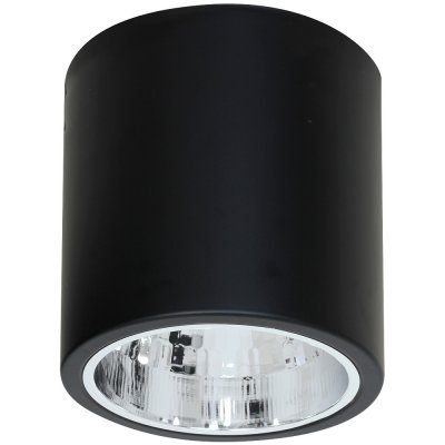 Luminex DOWNLIGHT ROUND 7241 потолочный светильникнакладные точечные светильники<br><br><br>S освещ. до, м2: 3<br>Крепление: Потолочное<br>Тип цоколя: E27<br>Цвет арматуры: Чёрный<br>Количество ламп: 1<br>Диаметр, мм мм: 170<br>Размеры: размер коробки 17x17x18,5см.<br>Высота, мм: 175<br>MAX мощность ламп, Вт: 60