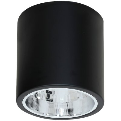 Luminex DOWNLIGHT ROUND 7243 потолочный светильникнакладные точечные светильники<br><br><br>S освещ. до, м2: 3<br>Крепление: Потолочное<br>Тип цоколя: E27<br>Цвет арматуры: Чёрный<br>Количество ламп: 1<br>Диаметр, мм мм: 229<br>Размеры: размер коробки 22x22x22,5см.<br>Высота, мм: 220<br>MAX мощность ламп, Вт: 60