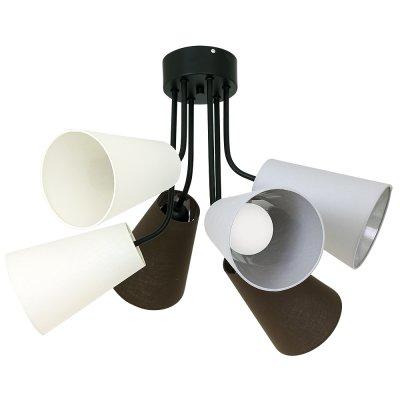 Luminex TUBLES 8786 потолочный светильникПотолочные<br><br><br>Установка на натяжной потолок: Да<br>S освещ. до, м2: 18<br>Крепление: Потолочное<br>Тип цоколя: E27<br>Цвет арматуры: Черный<br>Количество ламп: 6<br>Диаметр, мм мм: 660<br>Размеры: размер коробки 35x52x52см.<br>Высота, мм: 510<br>MAX мощность ламп, Вт: 60