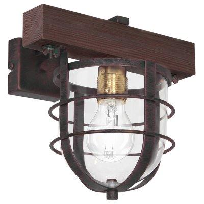 Luminex ANDER 7617 настенный светильникбра в стиле лофт<br><br><br>Крепление: Настенное<br>Тип цоколя: E27<br>Цвет арматуры: Коричневый<br>Количество ламп: 1<br>Ширина, мм: 240<br>Размеры: размер коробки 24x26x26см.<br>Расстояние от стены, мм: 240<br>Высота, мм: 280<br>MAX мощность ламп, Вт: 60
