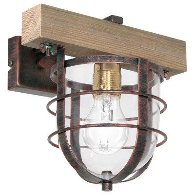 Luminex ANDER 7621 настенный светильникбра в стиле лофт<br><br><br>Крепление: Настенное<br>Тип цоколя: E27<br>Цвет арматуры: Медный, Бежевый<br>Количество ламп: 1<br>Ширина, мм: 240<br>Размеры: размер коробки 24x26x26см.<br>Расстояние от стены, мм: 240<br>Высота, мм: 280<br>MAX мощность ламп, Вт: 60