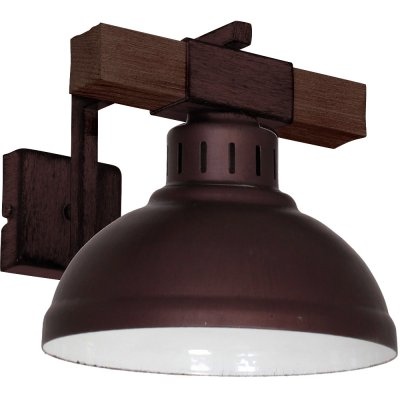 Luminex HAKON 9051 настенный светильникбра в стиле лофт<br><br><br>Крепление: Настенное<br>Тип цоколя: E27<br>Цвет арматуры: Коричневый<br>Количество ламп: 1<br>Ширина, мм: 210<br>Размеры: размер коробки 20x28x22см.<br>Расстояние от стены, мм: 250<br>Высота, мм: 290<br>MAX мощность ламп, Вт: 60