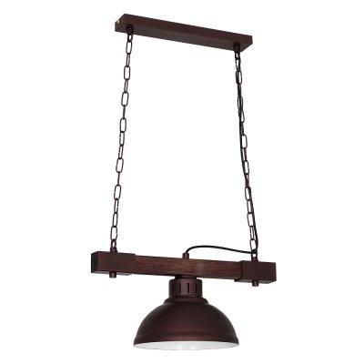 Luminex HAKON 9052 потолочный светильникОдиночные<br><br><br>S освещ. до, м2: 3<br>Крепление: Потолочное<br>Тип цоколя: E27<br>Цвет арматуры: Коричневый<br>Количество ламп: 1<br>Ширина, мм: 210<br>Размеры: размер коробки 17x33x33см.<br>Длина, мм: 400<br>Высота, мм: 660<br>MAX мощность ламп, Вт: 60