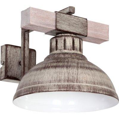 Luminex HAKON 9059 настенный светильникбра в стиле лофт<br><br><br>Крепление: Настенное<br>Тип цоколя: E27<br>Цвет арматуры: Бежевый с патиной<br>Количество ламп: 1<br>Ширина, мм: 210<br>Размеры: размер коробки 20x28x22см.<br>Расстояние от стены, мм: 250<br>Высота, мм: 290<br>MAX мощность ламп, Вт: 60