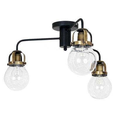 Luminex PARIS 7818 потолочный светильникПотолочные<br><br><br>Установка на натяжной потолок: Да<br>S освещ. до, м2: 9<br>Крепление: Потолочное<br>Тип цоколя: E27<br>Цвет арматуры: Черный, Латунь<br>Количество ламп: 3<br>Диаметр, мм мм: 660<br>Размеры: размер коробки 35x52x52см.<br>Высота, мм: 390<br>MAX мощность ламп, Вт: 60