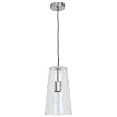 Luminex SECO 7771 потолочный светильникодиночные подвесные светильники<br><br><br>S освещ. до, м2: 3<br>Крепление: Потолочное<br>Тип цоколя: E27<br>Цвет арматуры: серебристый хром<br>Количество ламп: 1<br>Диаметр, мм мм: 170<br>Размеры: размер коробки 35x22x22см.<br>Высота, мм: 1160<br>MAX мощность ламп, Вт: 60