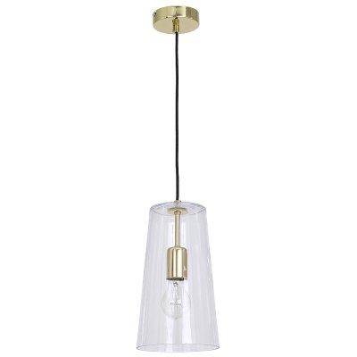 Luminex SECO 7772 потолочный светильникОдиночные<br><br><br>S освещ. до, м2: 3<br>Крепление: Потолочное<br>Тип цоколя: E27<br>Цвет арматуры: золотой<br>Количество ламп: 1<br>Диаметр, мм мм: 170<br>Размеры: размер коробки 35x22x22см.<br>Высота, мм: 1160<br>MAX мощность ламп, Вт: 60