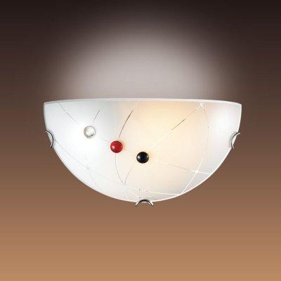 Светильник бра Сонекс 006 хром/белый/декор черн/красн KAVEНакладные<br><br><br>S освещ. до, м2: 6<br>Тип лампы: накаливания / энергосбережения / LED-светодиодная<br>Тип цоколя: E27<br>Количество ламп: 1<br>Ширина, мм: 300<br>MAX мощность ламп, Вт: 100<br>Цвет арматуры: серебристый