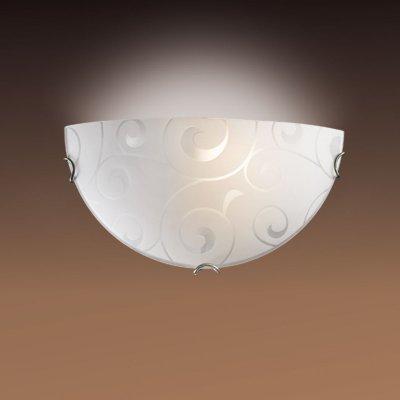 Светильник Сонекс 009 белый/хром KintaНакладные<br><br><br>S освещ. до, м2: 6<br>Тип лампы: накаливания / энергосбережения / LED-светодиодная<br>Тип цоколя: E27<br>Количество ламп: 1<br>Ширина, мм: 300<br>MAX мощность ламп, Вт: 100<br>Высота, мм: 150<br>Цвет арматуры: серебристый