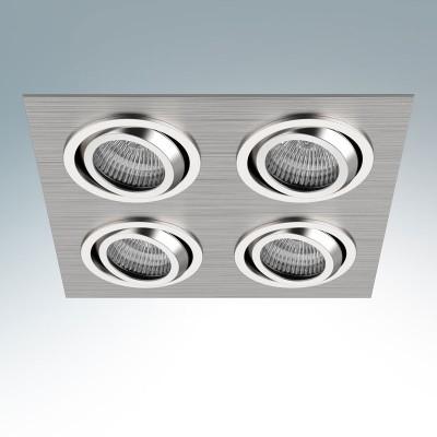 Lightstar SINGO 011604R СветильникКарданные<br><br><br>Тип лампы: галогенная/LED<br>Тип цоколя: MR16<br>Количество ламп: 4<br>Ширина, мм: 190<br>MAX мощность ламп, Вт: 50<br>Диаметр врезного отверстия, мм: 170 x 170<br>Длина, мм: 190<br>Высота, мм: 5